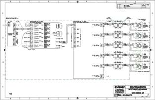 AutoCad Soundmasking Point-to-Point Schematic