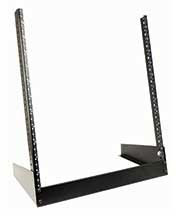 DESKTOP RACK LRS Serieshave a small footprint with just enough rack space to hold smaller AV/IT equipment arrangements where space is limited