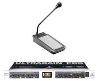 AVL SM-KIT Head-End Paging Kit with All Call Paging Microphones, UltraGain Pro Dual Channel Mic Pre Amp with Equalization