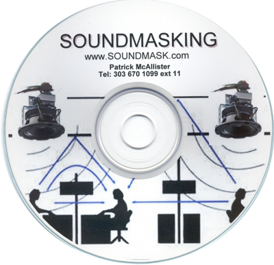 Play AVLELEC's Sound Masking CD through your computer for conversation privacy